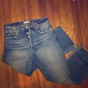 Zara wide-leg cropped jeans